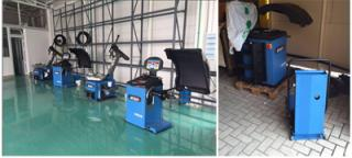 the brand new machine showed in the brand new workshop from our Albania client